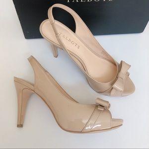 50% SALE 🎉 Talbots Patent Leather Peep Toe Heels